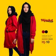 Jaket Wanita Muslimah Cocok Untuk Kado, Hijacket Maroon x Black [HJ10]