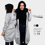 Kado Terbaik untuk Wanita Muslimah Jaket Hijab, Hijacket Grey x Black [HJ13]