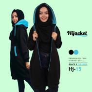 Jaket Muslimah Terbaru 2017, Hijacket Black x Turkish [HJ15]