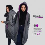 Jaket Wanita Trend Model Terbaru 2017 Jaket Hijab, Hijacket Misty x Purple [HJ23]