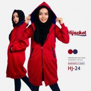 Jaket Wanita Model Terbaru 2017 Jaket Hijab, Hijacket Navy x Maroon [HJ24]