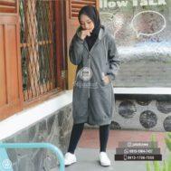 Hadiah Hijabers Jaket Hijab – Hijacket Misty x Grey [HJ4]