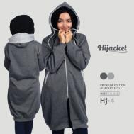 Jaket Hijabers Trend Model Terbaru 2017 Jaket Hijab, Hijacket MIsty x Grey [HJ4]