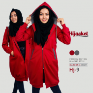 Jaket Muslimah Bandung 2017, Hijacket Maroon x Misty [HJ9]