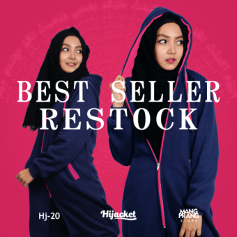 Hadiah untuk Wanita Muslimah 2017 Jaket Hijab, Hijacket Navy x Pink [HJ20]