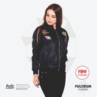 JAKET LOKAL BORDIR – FULCRUM – BOMBER FOR WOMEN   FiDO Store