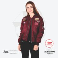 JAKET LOKAL BORDIR – ALBATROS – BOMBER FOR WOMEN | FiDO Store