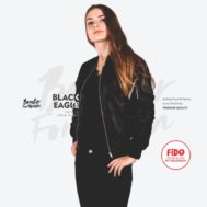 JAKET CEWEK BLACK EAGLE – BOMBER FOR WOMEN | FiDO Store