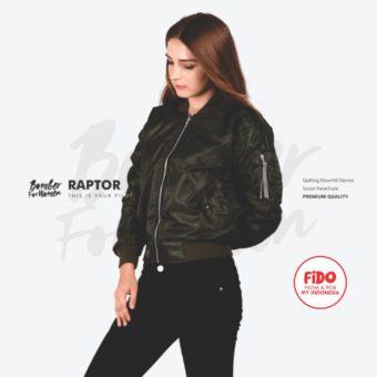 JAKET PEREMPUAN RAPTOR – BOMBER FOR WOMEN | FiDO Store