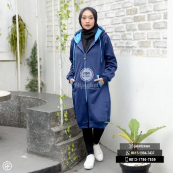 Jaket Muslimah Hijacket Navy x Turkish [HJ2]