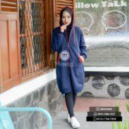 Jaket Cewek Model Terbaru 2017 Jaket Hijab, Hijacket Navy x Red [HJ3]
